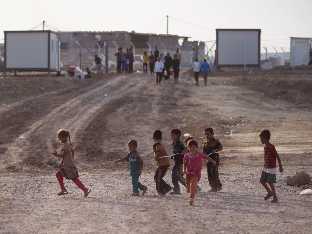 イラク北部難民キャンプ